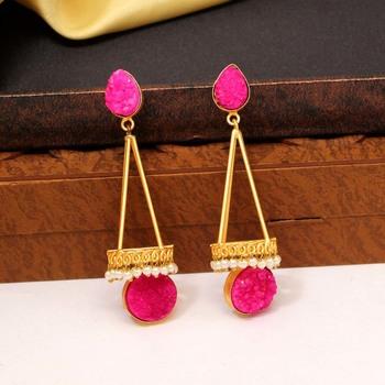 Pink Danglers Drops