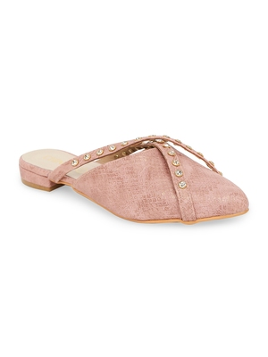 pink solid rubber sandals