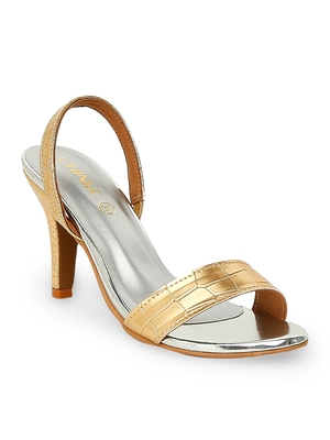 gold solid rubber sandals