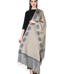 Grey Gold Banarasi Art Silk Woven Design Dupatta