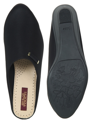 black synthetic bellies-shoes