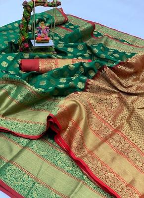 green Art Silk Party Wear Saree