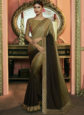 Multicolor Party Wear Designer Embroidery Saree
