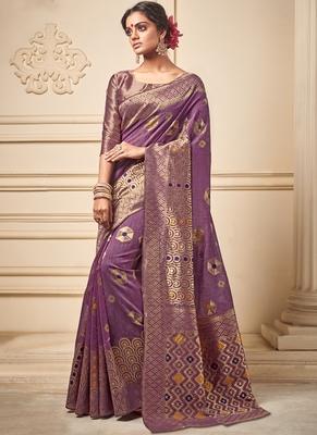 Light Purple Art Silk Party Wear Saree