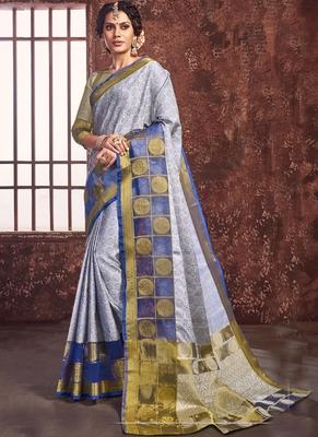 Blue Art Silk Party Wear Saree