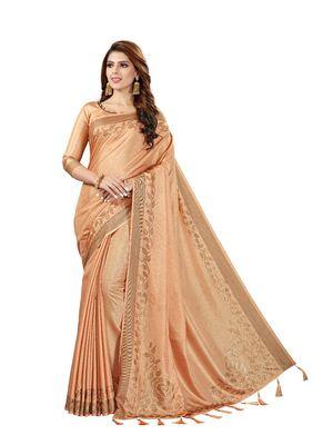 Beige woven manipuri silk saree with blouse