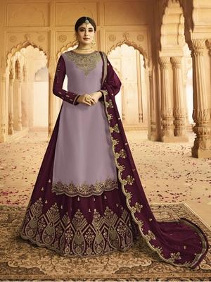 Multicolor embroidered silk salwar