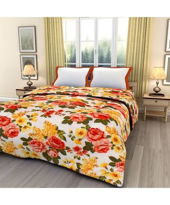 Beautiful Flowers Single Bed Reversible AC Blanket