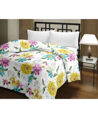 Colorful Sunfower Single Bed Reversible AC Blanket