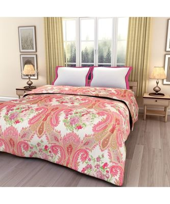 floral print Printed Single Bed Reversible AC Blanket