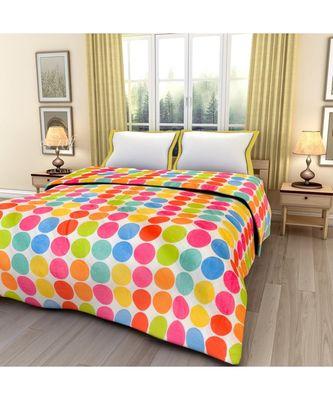 Colorful Circles Printed Single Bed Reversible AC Blanket