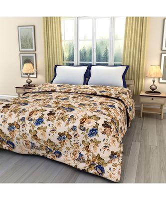 Multicolor floral print Printed Single Bed Reversible AC Blanket