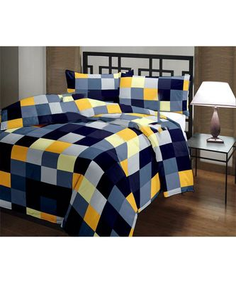 Multicolor geometric print Printed Single Bed Reversible AC Blanket