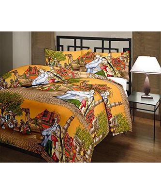 Traditional Rajasthani Design Printed Single Bed Reversible AC Blanket Dohar