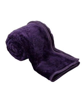 Embossed Design Fluffy Lavender Single Bed Mink Blanket