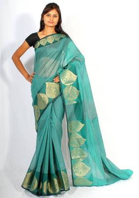 Supernet Fancy Zari Border Saree