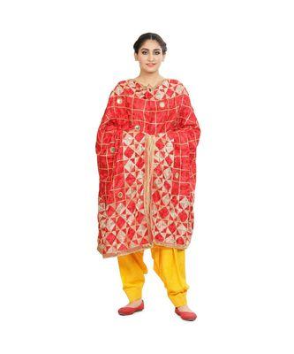 multicolor Phulkari Bagh Dupatta