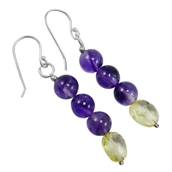 Multicolor quartz  earrings