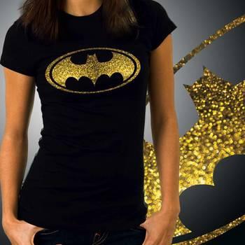 Batman Womens Glitter Tshirt at Offer, Womens Gold Special Effect T-shirt