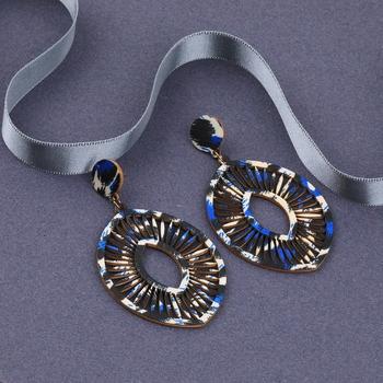 Designer Dangler  Wooden Light Weight Earrings for Girls and Women.