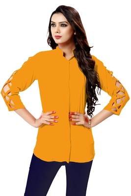 Yellow plain cambric tops