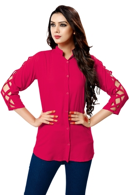 Pink plain cambric tops