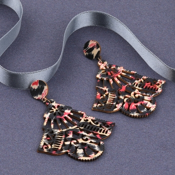 Delicate Party Wear Wooden Dangles Earrings Perfect and Different Look for women girl.