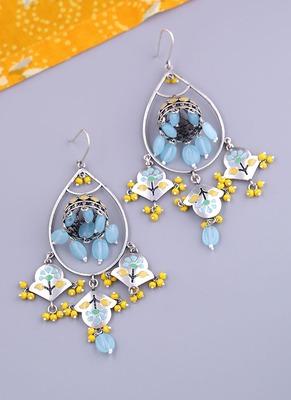 Bagh E Fiza Flower Jhumka Earrings