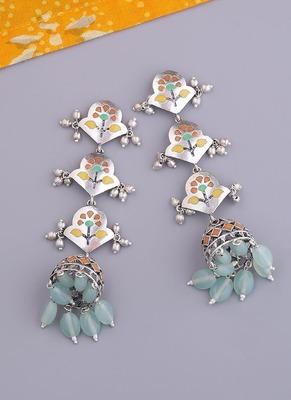 Bagh E Fiza Pastel Jhumka Layered Earrings