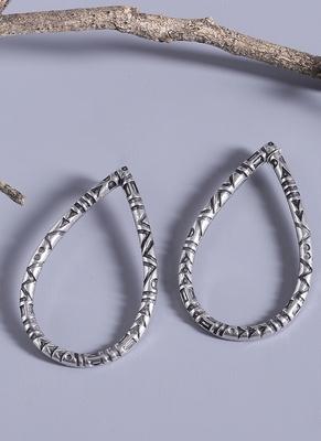 Aztec Bar Oval Earrings