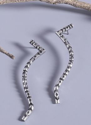Aztec Bar Squiggly Earrings