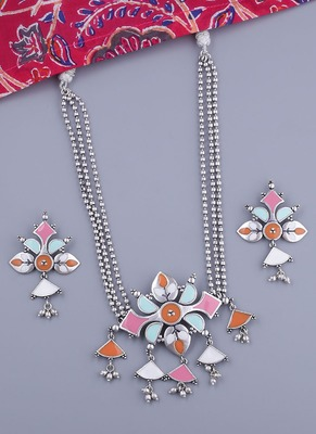 Bagh E Fiza Floral Necklace Set