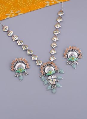 Bagh E Fiza Floral Boota Necklace Set