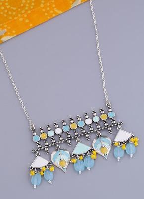 Bagh E Fiza Floral Motifs Brass Necklace