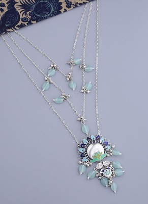 Bagh E Fiza Blooming Flower Motifs Necklace