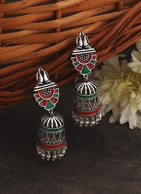 Apinaya Enamel Embellished Earrings