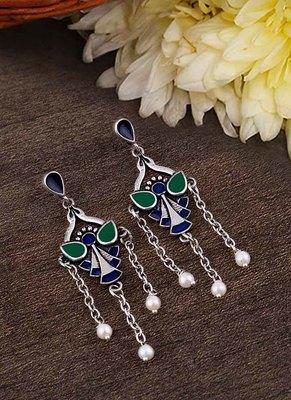 Apinaya Colourful Enamel Embellished Earrings
