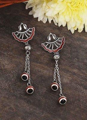 Apinaya Asymmetrical Tassels Drop Earrings