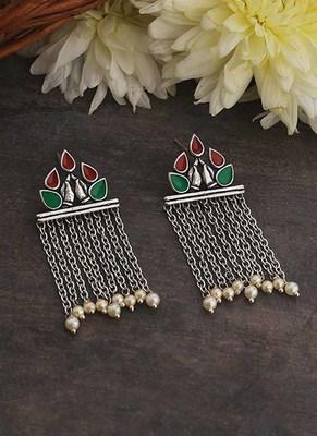 Apinaya Mesh Drop Earrings