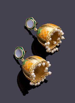 Ombre Yellow Belle Earrings