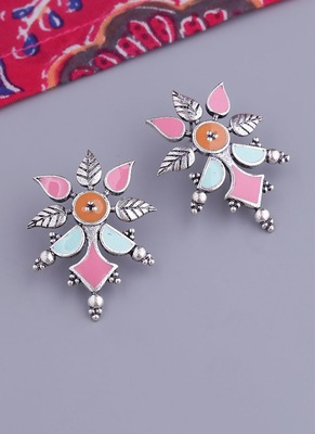 Bagh E Fiza Floral Pattern Subtle Earrings