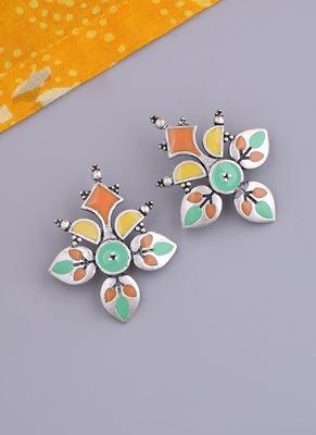 Bagh E Fiza Rangoli Pattern Earrings