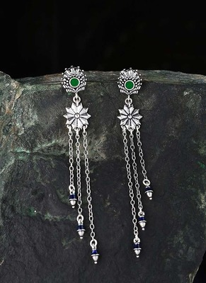 Mehrunisa Tassels Drop Earrings