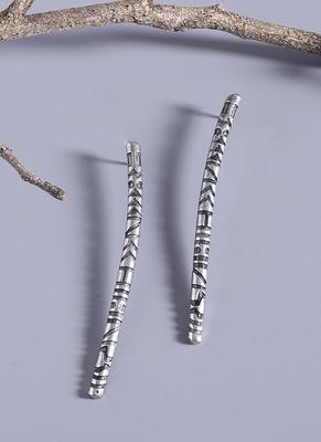 Aztec Bar Long Earrings