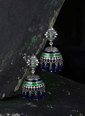 Mehrunisa Lightly Embellished Jhumka Earrings