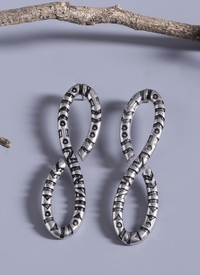 Aztec Bar Infinity Earrings