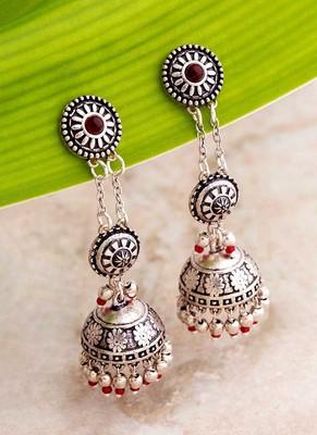 Abhira Layered Jhumka Drop Earrings