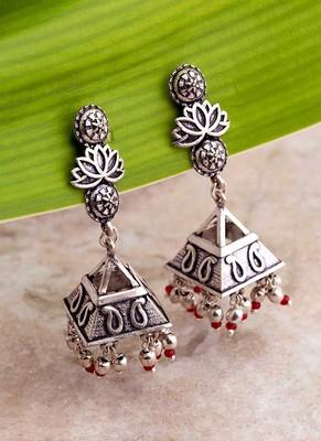 Abhira Paisley Motifs Embossed Earrings