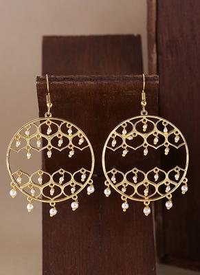 Jaali Pearl Faux Pearls Embellished Earrings