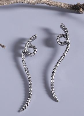 Aztec Bar Serpent Inspired Earrings